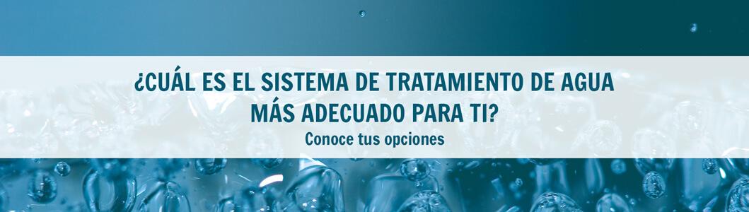 opciones tratamiento agua