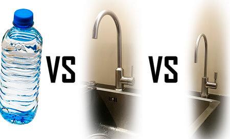 Agua Embotellada vs Agua de Grifo vs Agua de Ósmosis Inversa